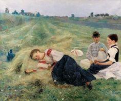 Csók István - Szénagyűjtők, 1890
