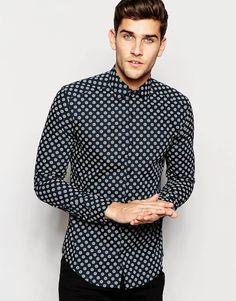 Image 1 ofReiss Large Polka Dot Shirt in Slim Fit