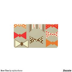 Bow Ties Checkbook Cover