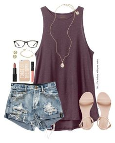"""""""everyone you meet in life, you meet for a reason"""" by kaley-ii ❤ liked on Polyvore featuring RVCA, Kendra Scott, NARS Cosmetics, Kate Spade, Alex and Ani, GlassesUSA, Imperial, women's clothing, women's fashion and women"""