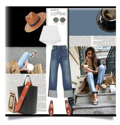 """""""Caffeine Fix: Coffee Break"""" by tiffanysblues ❤ liked on Polyvore featuring Radcliffe, Frame, A.L.C., Janessa Leone, Rosie Assoulin and coffeebreak"""