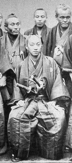 The prince of Satsuma and his retainers. Japanese History, Asian History, Japanese Culture, Samurai Weapons, Samurai Armor, Vintage Japanese, Japanese Art, Samurai Photography, Boshin War