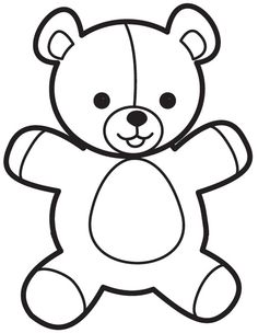 Bear Crafts Preschool, Crafts For Kids, Teddy Bear Template, 3 Bears, Nursery School, Tot School, Stories For Kids, Coloring Pages For Kids, Easy Drawings