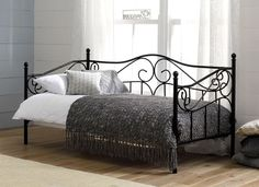 For an elegant day bed, our Amy bedstead couldn't be more perfect with intricate metal curves and a contemporary black painted finish.