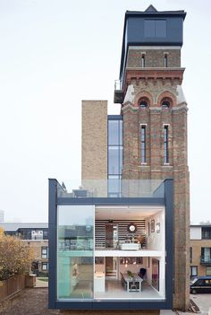London WaterTower Re-purposed. This modern house with 4 bedrooms was originally an old water tower.