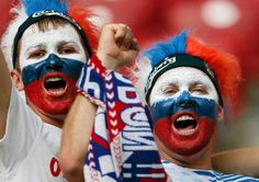 russian fans in warsaw, euro 2012