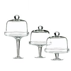3 Piece Covered Pastry Stand Set