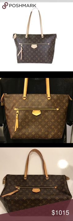 Louis Vuitton IÉNA MM Tote-M42267 Authentic Louis Vuitton IÉNA MM tote. Pre-owned, Overall excellent condition with very light signs of use.  Original keys to lock have been misplaced. Please see the pictures carefully/comes with dust bag, tiny bag for lock. Louis Vuitton Bags Totes