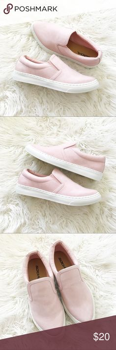 SODA soho pink closed toe elastic side loafers NIB! Side elastics with foamed sides Soda Shoes Flats & Loafers
