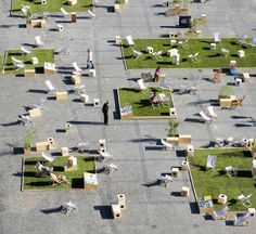 Outdoor Grass Rooms Transform Historic Gdansk Public Square Into Interactive Urban Park