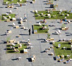 Outdoor Grass Rooms Transform Historic Gdansk Public Square Into Interactive Urban Park