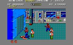 Renegade (Imagine / Taito, 1987). Beat 'em up, portage from the arcade.