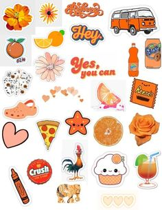Hottest Cost-Free Printable Stickers orange Popular On the list of (many) benefits in the world wide web is printables. Stickers Cool, Tumblr Stickers, Phone Stickers, Planner Stickers, Printable Stickers, Free Printable, Orange Aesthetic, Aesthetic Stickers, Cute Quotes