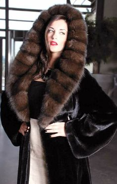Blackglama Mink Fur Coat with Russian Sable Fur Hood Sable Fur Coat, Mink Fur, Mink Coats, Fabulous Furs, Fur Fashion, Fur Jacket, Casual Outfits, Clothes For Women, My Style
