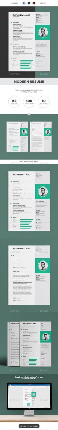 The Modern Resume Resume  Pinterest  Template Cv Template And Cv Resume Template