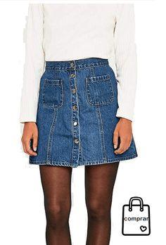 8d26cc142a FALDA VAQUERA  moda  mujer  fashion  woman  women  modamujer  faldas