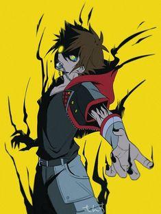 (Twitter : @kkk226hhh) Kingdom Hearts Games, Kingdom Hearts Fanart, Arte Final Fantasy, Fantasy Art Men, Sora Kh3, Rage, Kindom Hearts, Shinigami, Cute Art