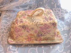 Vintage Lord Nelson Chintz Heather Floral covered Cheese Dish chic not shabby Cheese Dishes, Rose Cottage, Butter Dish, Vintage Antiques, Shabby, Lord, Chic, England, Ebay