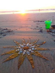 Seaweed, shells & sand mandala ... something fun to do in Florida Loved and Pinned by www.downdogboutique.com to our Yoga community boards