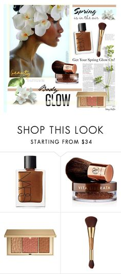 """""""Get Your Spring Glow On!"""" by mcheffer ❤ liked on Polyvore featuring beauty, NARS Cosmetics, Vita Liberata, Estée Lauder, tarte and springglow"""