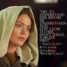"""Need some filmspiration to know how to love? #Quote #Film ——- ¿Quieres una inspiración de película para saber como amar? #Frase #Película """"Trata de entenderlo antes de que él te entienda a ti. Quédate cerca de él, no juzgues, primero perdona."""" - Amata Lotti / Madre de Rita (Sydne Rome) """"Rita de Cascia"""""""