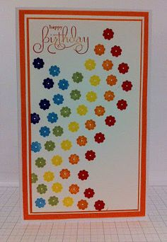 Gothdove Designs - Alison Barclay Stampin' Up! ® Australia : Just Add Ink Challenge - Rainbow Card!