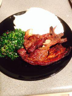isitshwala, braai & greens - Zimbabwe Food