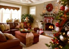 40 Fantastic Living Room Christmas Decoration Ideas – All About Christmas
