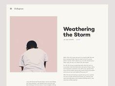 "via Muzli. ""Social Share Inspiration"" is published by Muzli in Muzli - Design Inspiration. Website Design Inspiration, Graphic Design Inspiration, Daily Inspiration, Interaktives Design, Page Design, Flat Design, Design Layouts, Editorial Layout, Editorial Design"