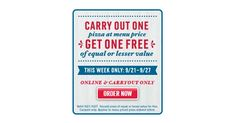 Domino's Pizza BOGO Carry Out Pizza All Week!