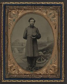 [Unidentified soldier in Union frock coat with hat in fron… | Flickr