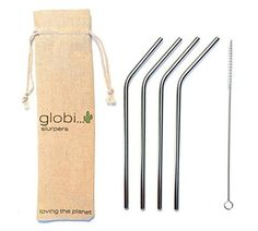 From Reusable Straws - Eco-friendly Non-toxic Washable Stainless Steel Drinking Straws. Set Of 4 Metal Straws 1 Cleaning Brush An Exclusive Globi Carry Bag. Great For Cocktails & Juices Straws - 1 Cleaner Cocktail Juice, Kitchen Prices, Rose Gold Decor, Metal Straws, Stainless Steel Straws, Plastic Waste, Beautiful Friend, Brush Cleaner, Home Decor Inspiration