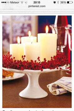 25 Red and White Christmas Decoration Ideas Need some cool ideas and inspiration to decorate your home this holiday Season? Check out these 25 Red and White Christmas Decoration Ideas and have fun! Holiday Centerpieces, Xmas Decorations, Centerpiece Ideas, Valentine Decorations, Wedding Centerpieces, Outdoor Decorations, Decoration Crafts, Christmas Dining Table Decorations, Christmas Buffet Tablescapes