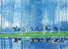 Reflections on the Etang, 1999, Andre Brasilier