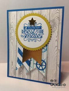 Stampin' Up!, Control Freaks December Blog Tour, Hello, Sailor*, Hardwood Background*, High Tide DSP*, Gold Foil Sheet, Circles Collection Framelits, Starburst Framelits*, Merry Mini's Punch Pack