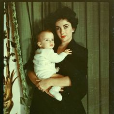 Elizabeth Taylor with her son