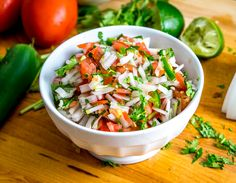 Five ingredients is all it takes to make a classic, authentic Pico de Gallo. This recipe keeps the tomatoes in check by using plenty of onion and seasoning. Mexican Salsa Recipes, Mexican Dishes, Pinto Bean Soup, Food Network Recipes, Cooking Recipes, Recipe Sheets, Recipe 30, Mexican Cooking, Side Dish Recipes
