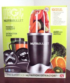 NEW NutriBullet 12-pc 600 W Blender/Mixer Extractor Brand New Un-Opened!!! #NutriBullet  Only 7 hours remaining in this auction.  A great Price and brand New no problems at all.  This piece works fantastic and retails at around $140.00 so to get it for $49.99 is a no brainer!  You will have to bid soon though or someone else might beat you to the punch (or smoothie in this case!)
