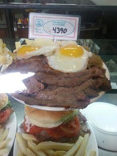 Olha o tamanho do prato aqui em Santiago do Chile.
