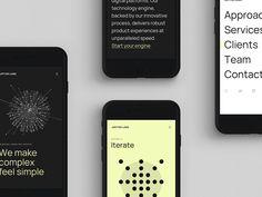 JUPITER LABS • Mobile Site by Brad Burke for I D O L on Dribbble Ui Portfolio, Portfolio Website Design, Landing Page Design, Website Design Inspiration, Brand Identity Design, Typography Logo, Tech Logos, Labs, Web Design