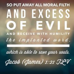 Jacob 1:21 TLV