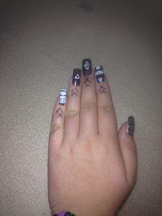 Meine Nägel gestern frisch gemacht ❤️❤️