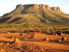 The Kamdeboo mountain in the Aberdeen district, South Africa -- ek's lief vir die Karoo! Paises Da Africa, Out Of Africa, South African Holidays, Provinces Of South Africa, South Afrika, Africa Travel, Cape Town, Live, Places To See