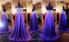 You will look so elegant in this beautiful purple strapless gown. Intricate beadwork adorn the sweetheart bodice with its eye-catching swirls cascading into a sparkling beaded waistband above the flowing chiffon skirt. So Pretty and ONLY at Rsvp Prom and Pageant, Atlanta, GA or buy It HERE at http://rsvppromandpageant.net/collections/long-gowns/products/purple-strapless-chiffon-prom-dress-beaded-sweetheart-bodice-a-line-skirt-115spa0713880398