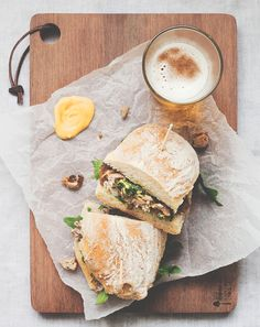Porchetta + Salsa Verde Sandwich {The Simple Sandwich} I Love Food, A Food, Good Food, Food And Drink, Yummy Food, Paninis, Sandwiches, Bagels, Beste Burger