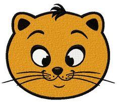 Cat happy face machine embroidery design. Machine embroidery design. www.embroideres.com