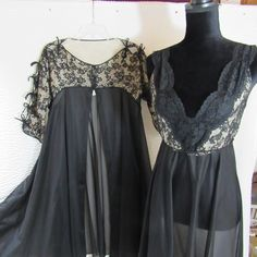 Vintage Illusion Gown Robe Nightgown Set Glamorous Lingerie S Eyeful By Flaums | Clothing, Shoes & Accessories, Women's Clothing, Intimates & Sleep | eBay!