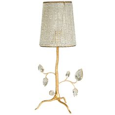 View this item and discover similar for sale at - Maison Baguès lamp, gilt gold finish. Iron and crystal beads. Iron Lamp, Light Art, Crystal Lighting, Lamp, Crystal Lamp, Light Table, French Lamp, Table Lamps For Sale, French Lighting