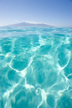 Crystal Clear Water in Tahiti