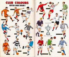 The Hotspur Handy Book of Football Club Colours, 1969 Football Odds, Football Art, School Football, Football Players, Club, Celtic, Dundee United, Football Images, American Football League